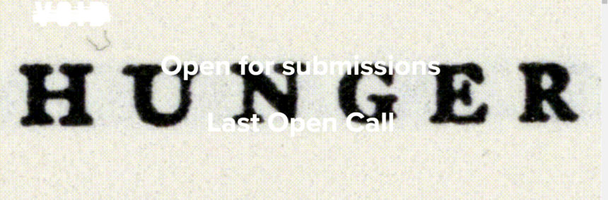 "VOID I OPEN FOR SUBMISSIONS FOR SEVENTH AND LAST ISSUE OF ""HUNGER"""